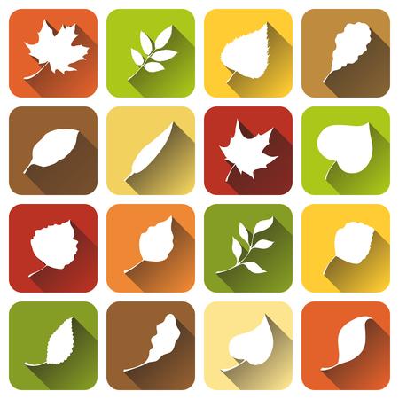 흰색 긴 그림자 실루엣을 나뭇잎.