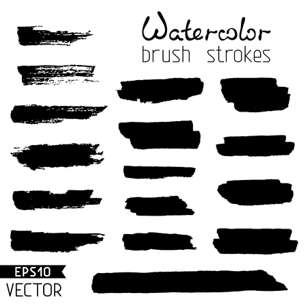 Watercolor stripes isolated on white background. Vector illustration. Stock Illustratie