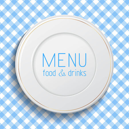There is place for your text. Vector illustration. Menu template.