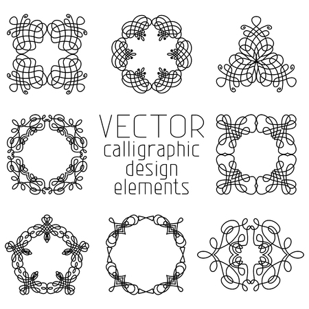 Set of various design elements and page decorations. Vector