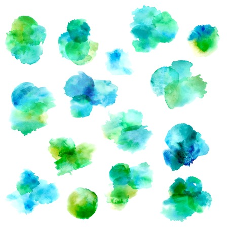 Set of vector watercolour circles. Vector