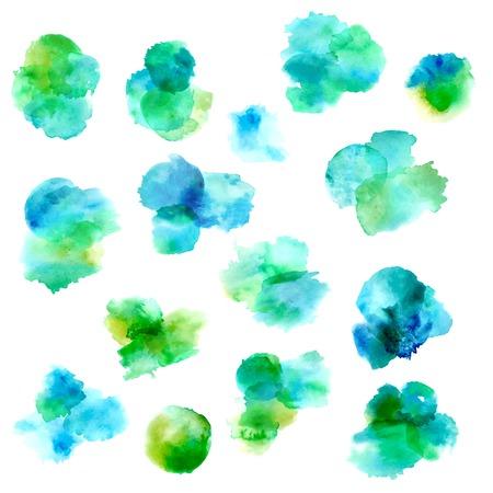 watercolour paintbrush: Set of vector watercolour circles. Illustration