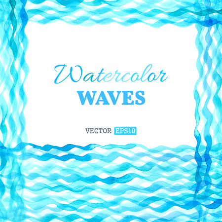 watercolour: Vector watercolour waves background. There is place for your text.