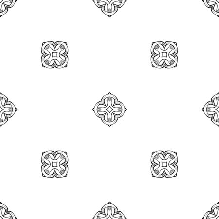 Seamless geometric pattern. Black and white geometric background. Various vintage elements.