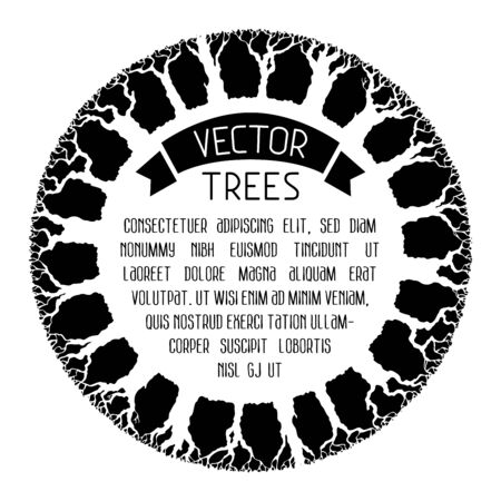 bole: Black and white trees background. There is place for your text in the center.