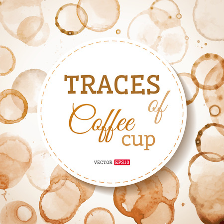 Coffee cup traces background.  イラスト・ベクター素材