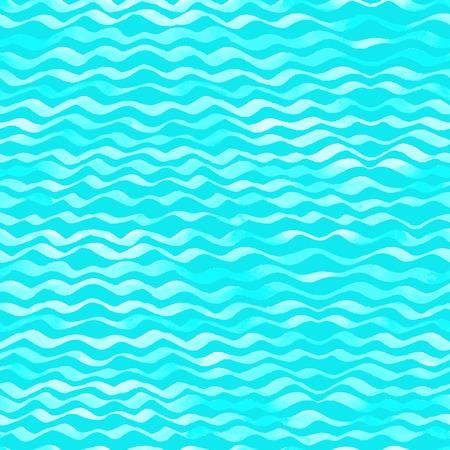 Seamless pattern of watercolour waves.