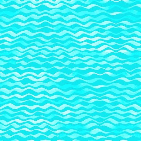 Seamless pattern of watercolour waves. Vector