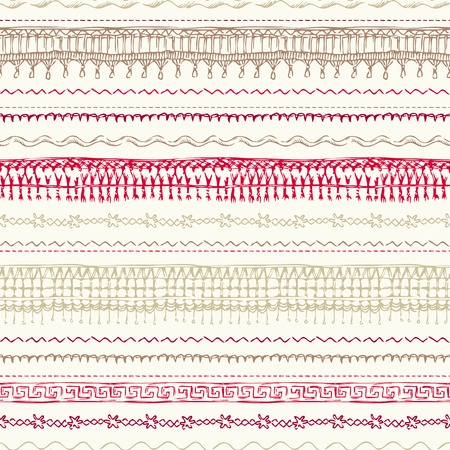 Hand-drawn seams background for your design.