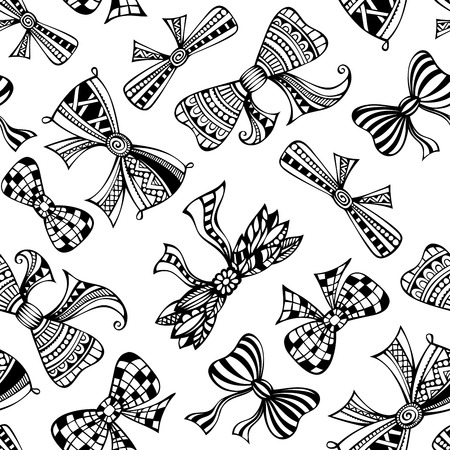Ethnic bows on white background. Vector