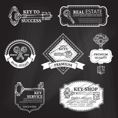 Retro simple design elements. There is place for your text. Vector