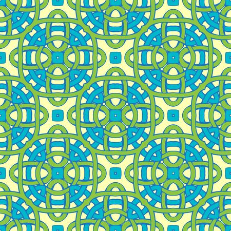 twisted: Blue and green twisted lines on yellow background.