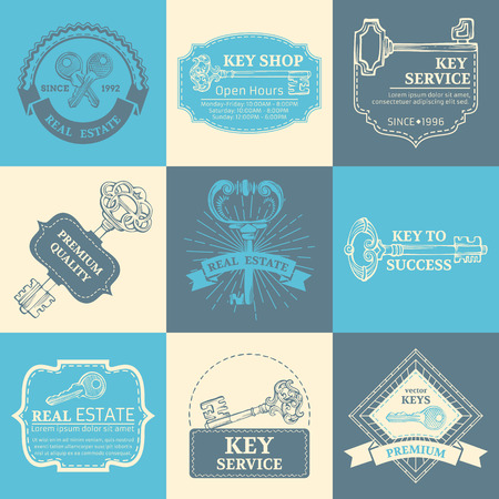 Vintage badges, labels, ribbons, frames, logo templates and emblems. There is place for your text. Vector