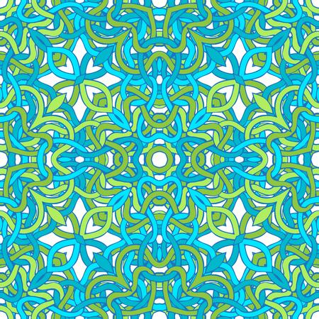 흰색 배경에 파란색과 녹색 트위스트 라인.