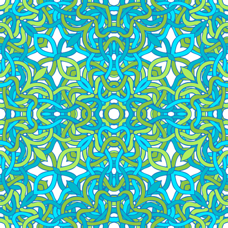 twisted: Blue and green twisted lines on white background.