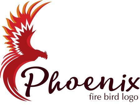Phoenix bird logo. Vector logo in color.Fire bird.