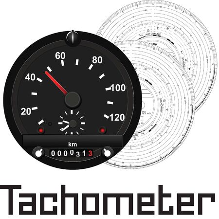 A tachometer is a measuring device designed to measure the frequency of rotation of various rotating parts, such as rotors, shafts, discs, etc., in various units, machines and mechanisms. Illustration