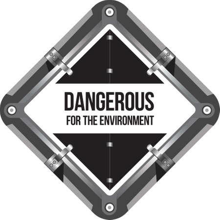 Dangerous for the environment .Marking of transport. Vettoriali