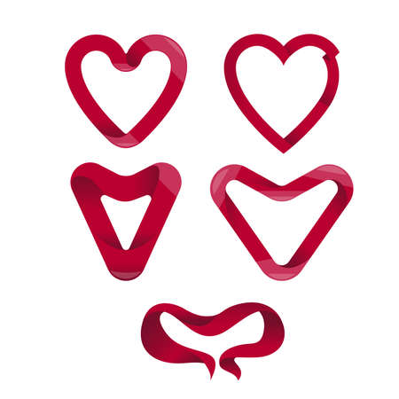 heart shaped: pack of heart shaped elements