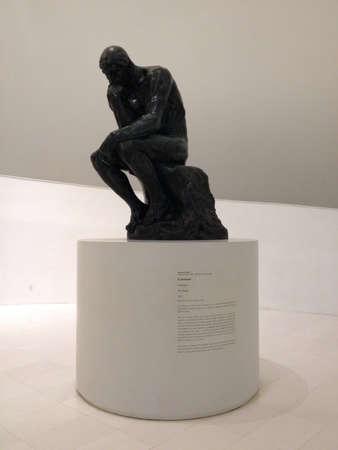 Escultura de El Pensador en el Museo Soumaya en Mxico DF