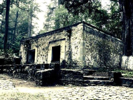 Ermita, architecture inside the woods