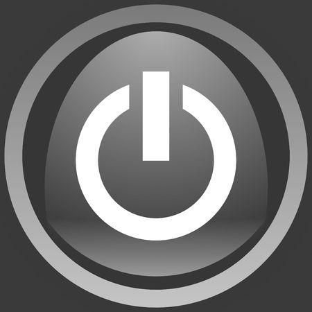 powerbutton: bot�n de plata pobreza en panel de acero
