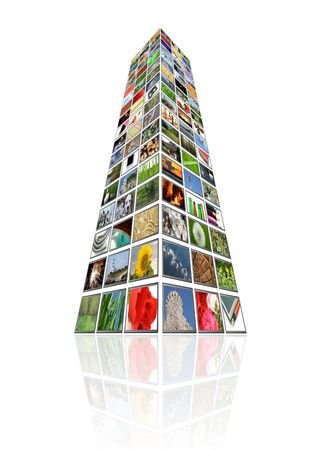 multimedia tower Stock Photo - 4384330