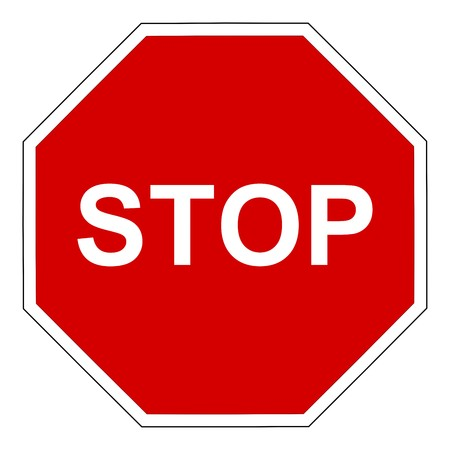 disconnect: stop sign