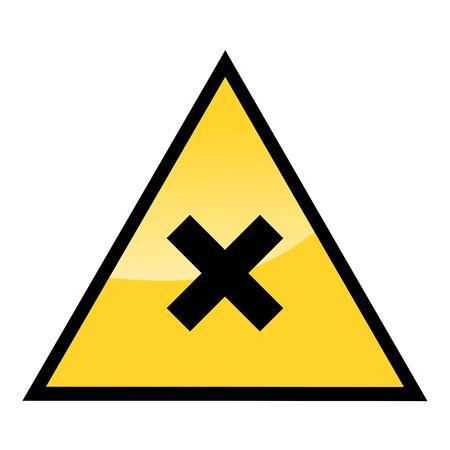 irritate: harmful hazard sign