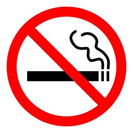 non: no smoking sign