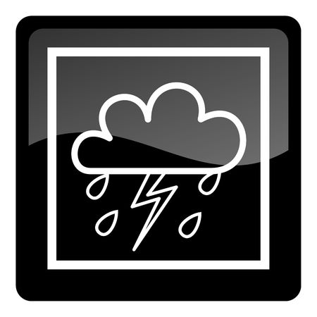 weather forecast icon - stormy photo