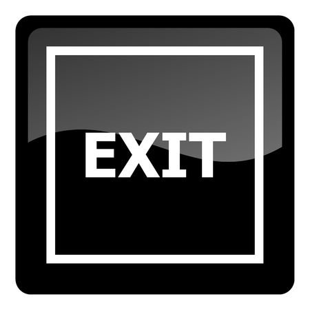 exit sign icon: exit icon Stock Photo