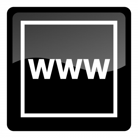www at sign: www icon Stock Photo