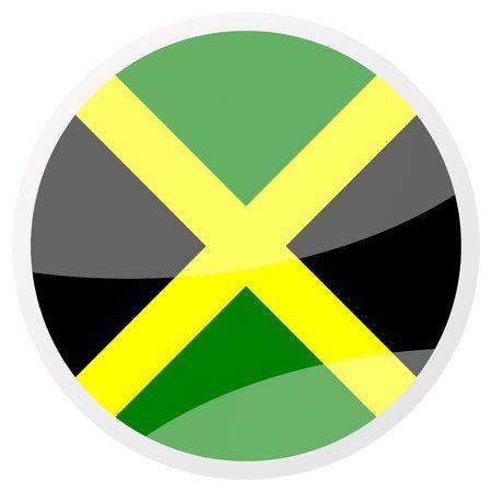 jamaican: jamaican round aqua button
