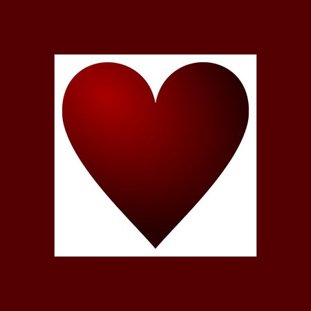 valentines background with red heart Stock Photo - 5824492