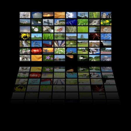 multimedia center presentation Stock Photo