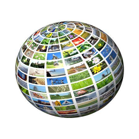 journal t�l�vis�: sph�re multim�dia Banque d'images