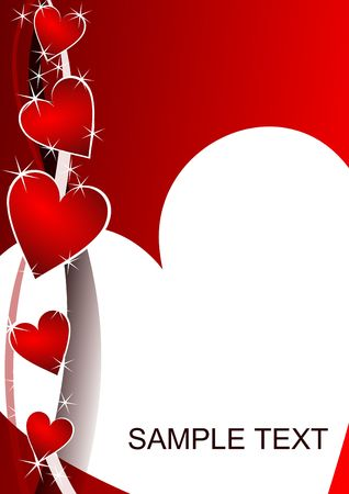 valentines background with hearts Stock Photo - 5567972