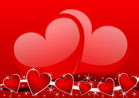 valentines background with hearts Stock Photo - 5567975