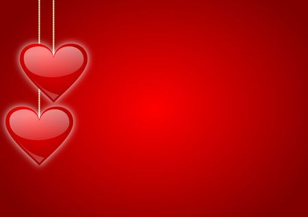 valentines background with hearts Stock Photo