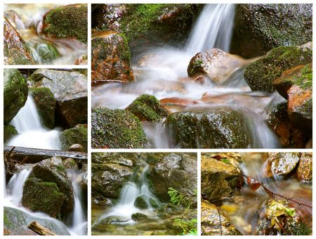 mountain spring collage