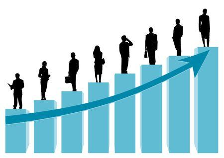 first job: business team Stock Photo