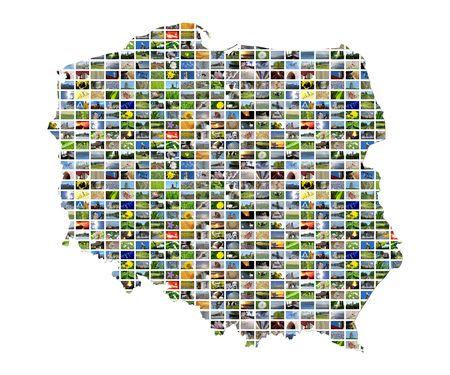 fiestas electronicas: Mapa de collage de Polonia