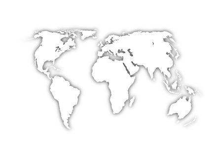 world map on grey background photo