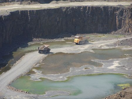 limestone mine Stock Photo - 5765971