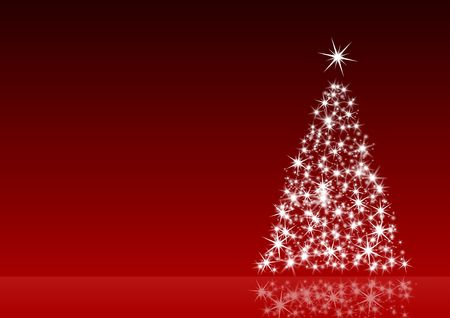 red christmas decoration with christmas tree  photo