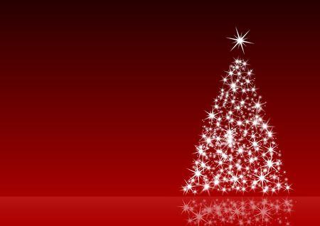 Red Weihnachten Dekoration mit Weihnachtsbaum