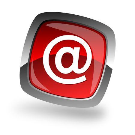 red icon: e-mail internet icon Stock Photo
