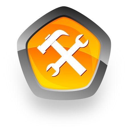 logo informatique: service internet ic�ne Banque d'images