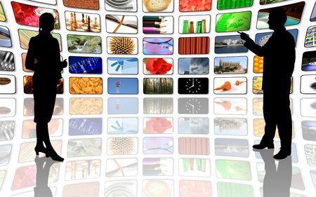 pics: multimedia center business presentation Stock Photo